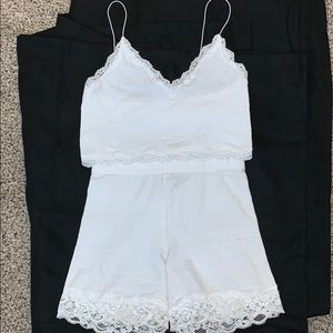 Forever 21 Two Piece Lace Set